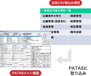 外部ファイルデータ一括自動取込み